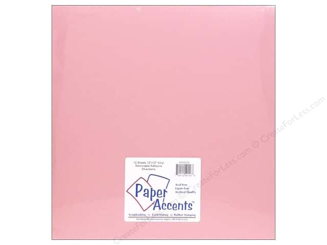Paper Accents Adhesive Vinyl 12 x 12 in. Removable Strawberry (12 sheets)