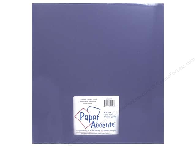 Paper Accents Adhesive Vinyl 12 x 12 in. Removable Wild Grape (12 sheets)