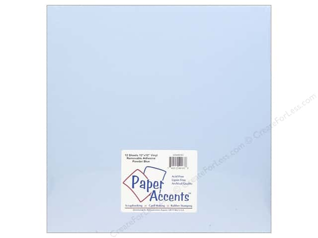 Paper Accents Adhesive Vinyl 12 x 12 in. Removable Powder Blue (12 sheets)