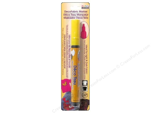 Uchida DecoFabric Marker Fine Point Opaque Yellow Carded