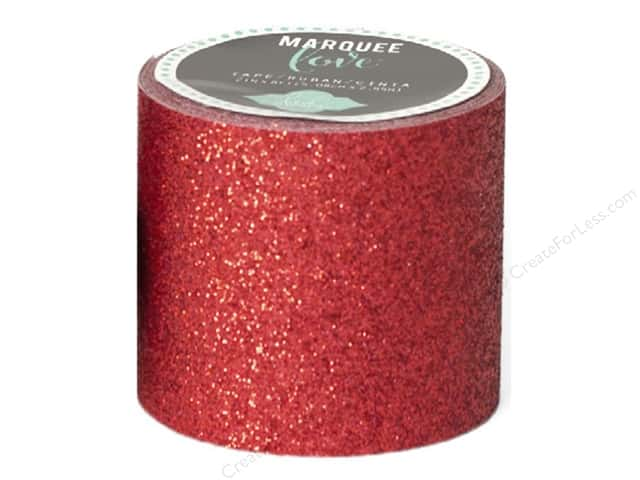 Heidi Swapp Marquee Love Glitter Tape 2 in. Red