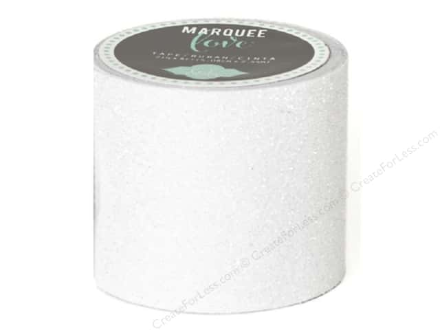 Heidi Swapp Marquee Love Glitter Tape 2 in. White