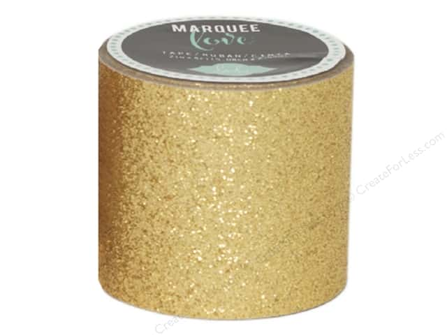 Heidi Swapp Marquee Love Glitter Tape 2 in. Gold