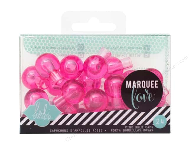 Heidi Swapp Marquee Love Bulb Caps 3/4 in. Pink 24 pc.