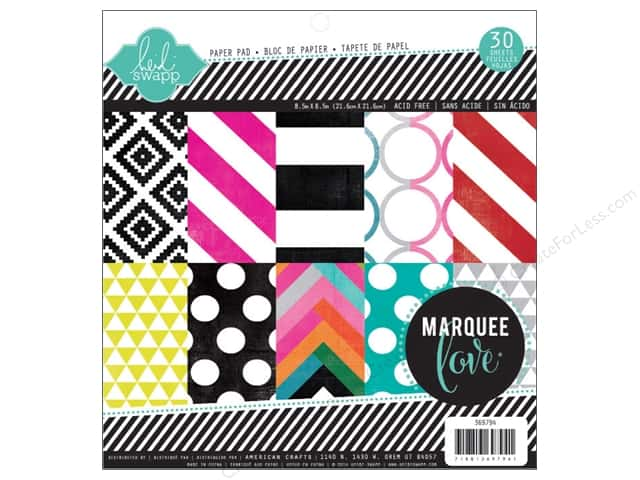 Heidi Swapp Marquee Love Paper Pad 8 1/2 x 8 1/2 in. Patterned