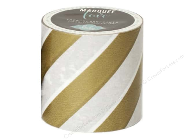 Heidi Swapp Marquee Love Washi Tape 2 in. Stripe Gold