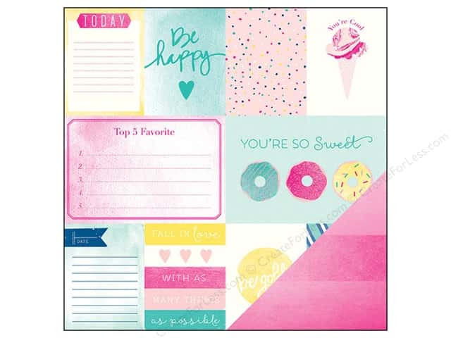 American Crafts 12 x 12 in. Paper Dear Lizzy Serendipity Cotton Candy (25 sheets)