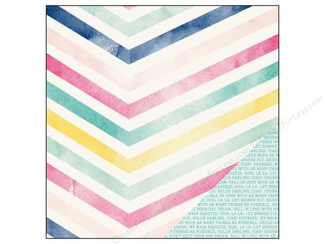American Crafts 12 x 12 in. Paper Dear Lizzy Serendipity Good Vibes (25 sheets)