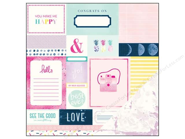 American Crafts 12 x 12 in. Paper Dear Lizzy Serendipity Smitten (25 sheets)