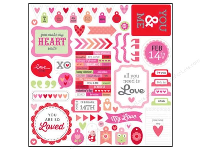 Doodlebug Sticker Lovebugs This & That (12 sheets)