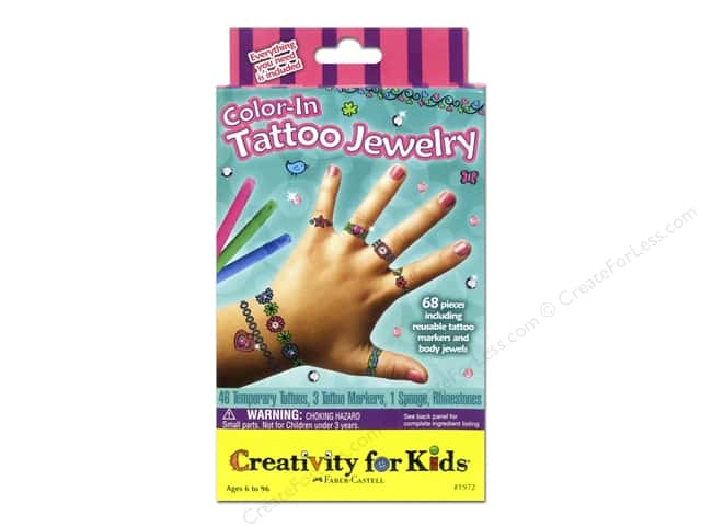 FaberCastell Creativity For Kids Color In Tattoo Party