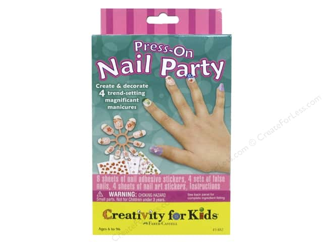 FaberCastell Creativity For Kids Press On Nail Party