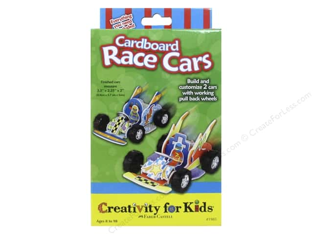 FaberCastell Creativity For Kids Cardboard Race Cars
