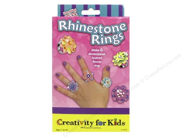 FaberCastell Creativity For Kids Rhinestone Rings