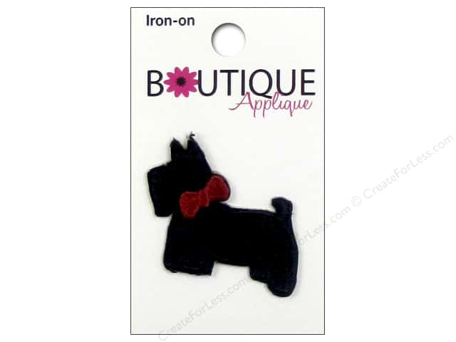 Blumenthal Boutique Applique Black Scotty Dog & Bow