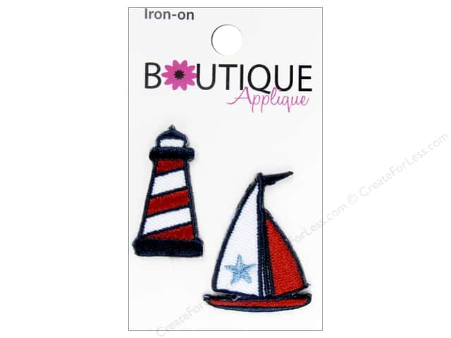 Blumenthal Boutique Applique 2 pc. Lighthouse & Boat