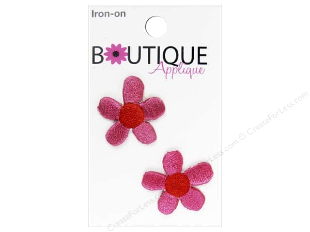 Blumenthal Boutique Applique 1 in. Pink Flowers 2 pc.
