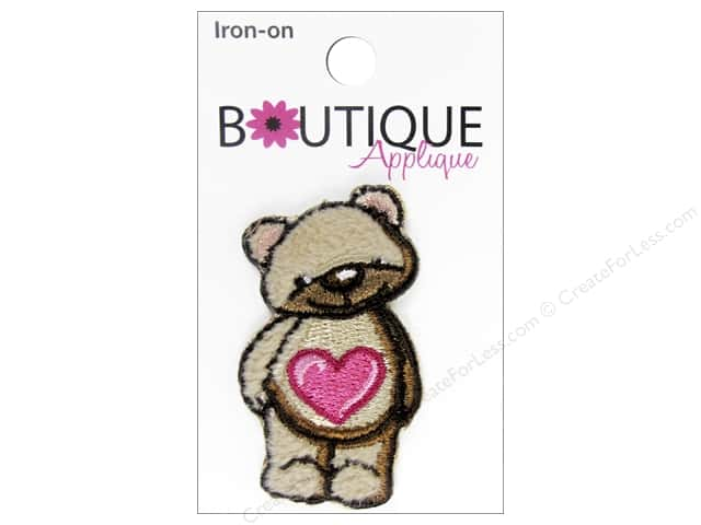 Blumenthal Boutique Applique Brown Teddy Bear