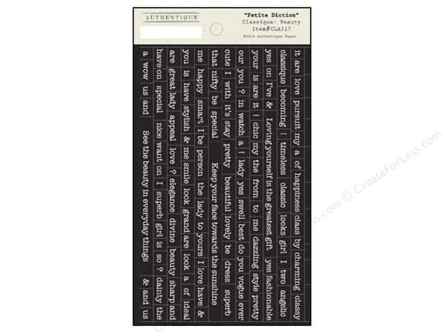 Authentique Stickers Classic Beauty Petite Diction (12 sets)