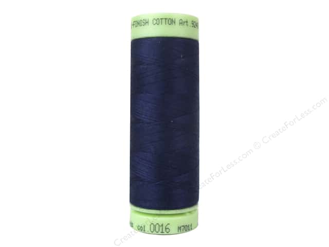 Mettler Silk Finish Cotton Thread 60 wt. 220 yd. #0016 Dark Indigo