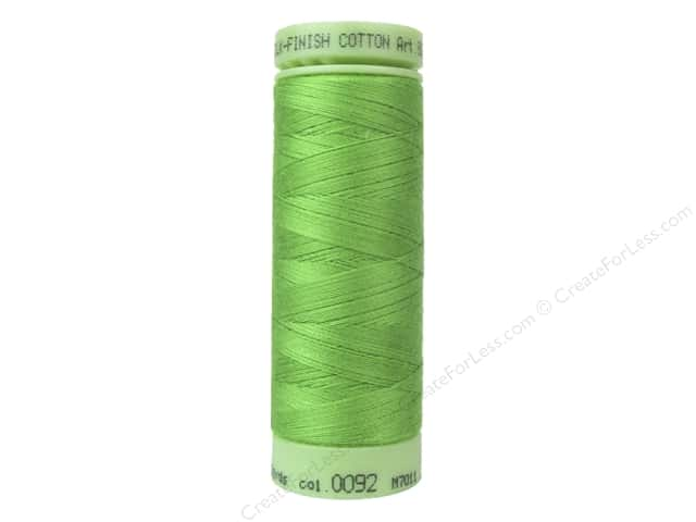 Mettler Silk Finish Cotton Thread 60 wt. 220 yd. #0092 Bright Mint