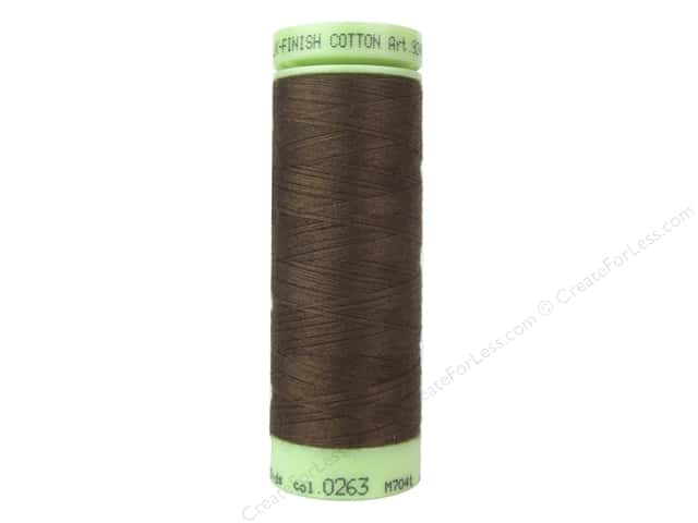 Mettler Silk Finish Cotton Thread 60 wt. 220 yd. #0263 Redwood