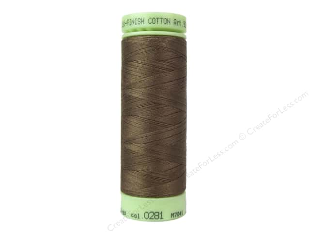 Mettler Silk Finish Cotton Thread 60 wt. 220 yd. #0281 Hazelnut