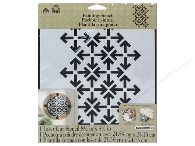 Plaid Stencil Large Arrow Pattern