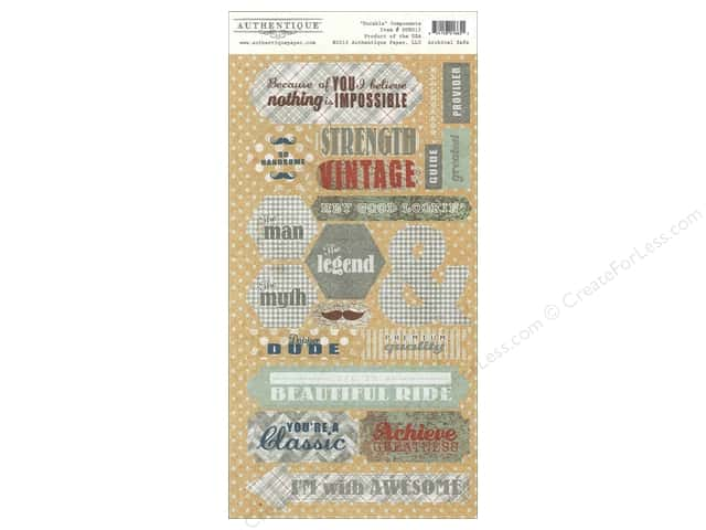 Authentique Die Cuts Durable Components (12 sets)