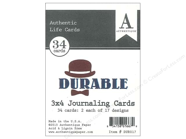 Authentique Authentic Life Cards Durable