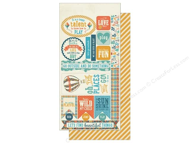 Authentique Die Cuts Playful Components (12 sets)