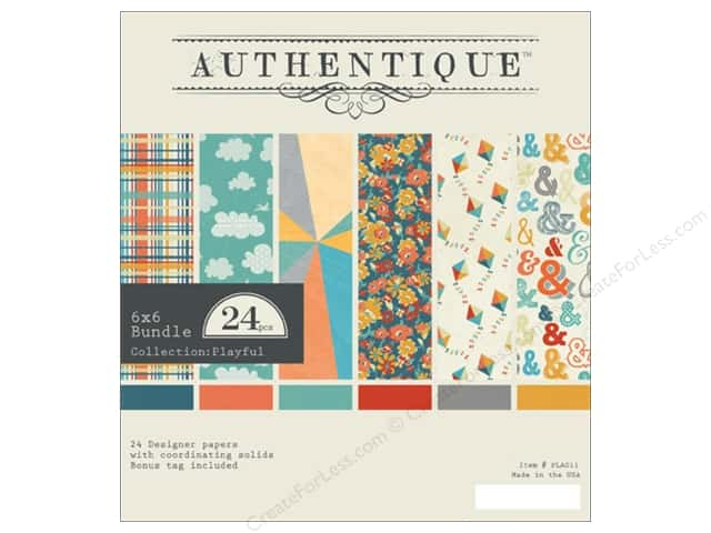 Authentique 6 x 6 in. Paper Bundle Playful Collection