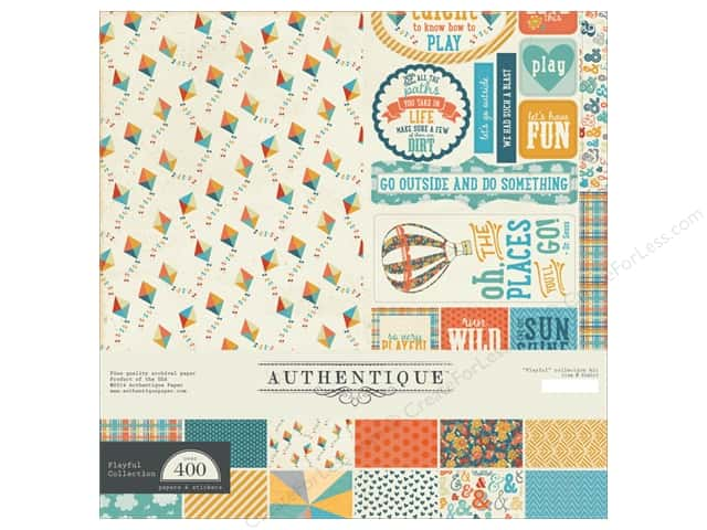 Authentique 12 x 12 in. Collection Kit Playful