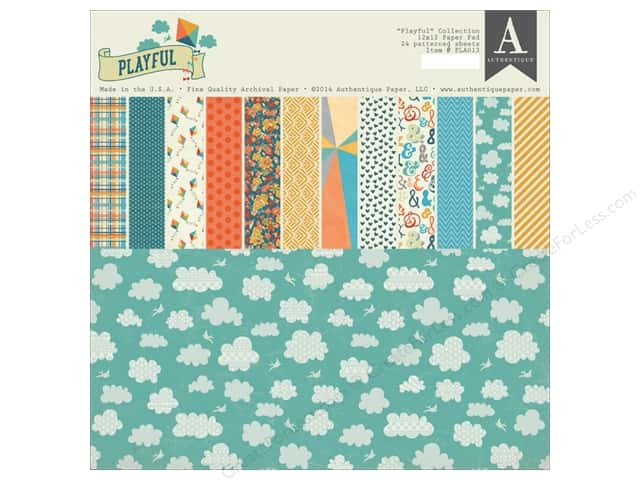 Authentique 12 x 12 in. Paper Pad Playful Collection