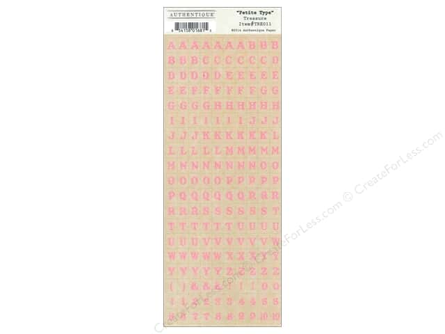 Authentique Stickers Treasure Petite Type (12 sets)