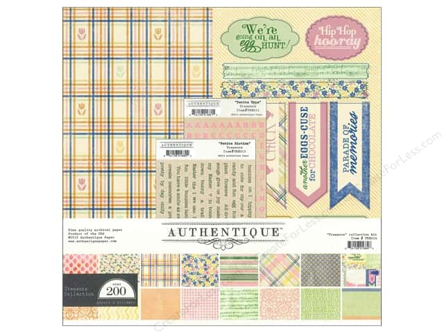 Authentique 12 x 12 in. Collection Kit Treasure