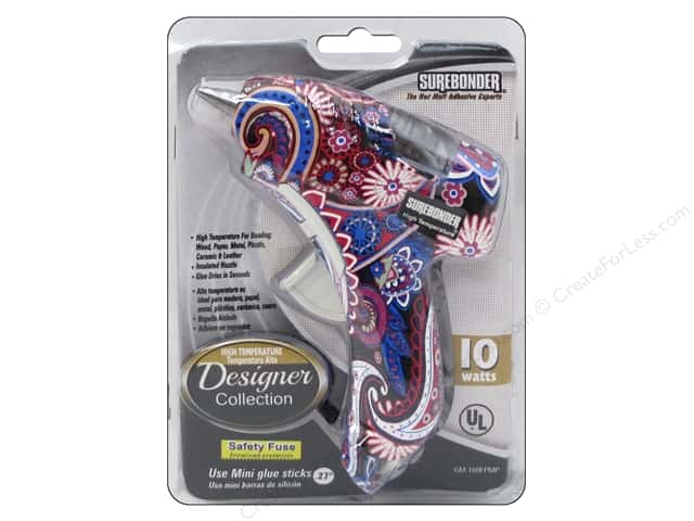 Surebonder Glue Gun High Temp Mini Designer Paisley 10w
