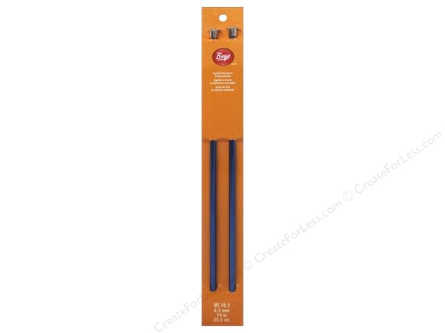Boye Single Point Knitting Needles Aluminum 14 in. Size 10.5 (6.5 mm)