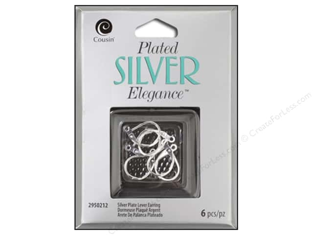 Cousin Elegance Silver Plated Lever Back Earring 6pc