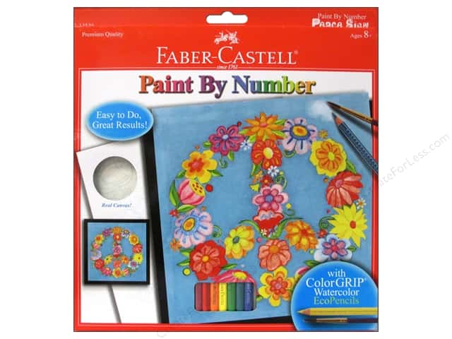 Faber-Castell Kits Paint By Number Peace Sign