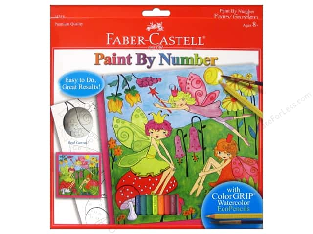 Faber-Castell Kits Paint By Number Fairy Garden