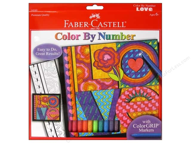 Faber-Castell Kits Color By Number Love