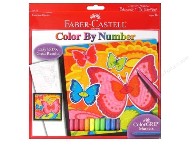 Faber-Castell Kits Color By Number Bloomin' Butterflies