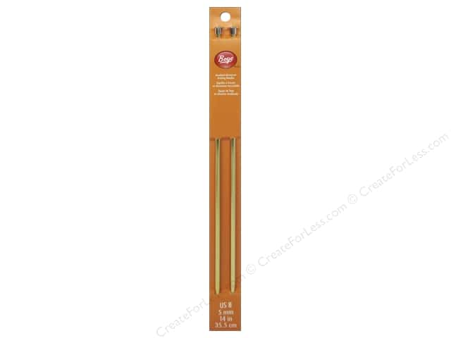 Boye Single Point Knitting Needles Aluminum 14 in. Size 8 (5 mm)