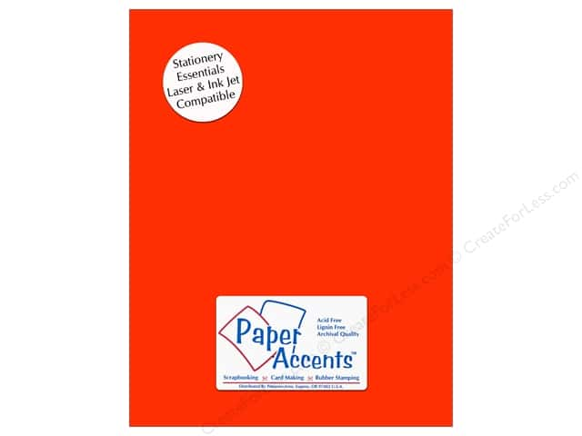 Paper Accents Stationery 8 1/2 x 11 in. Orange 25 pc.