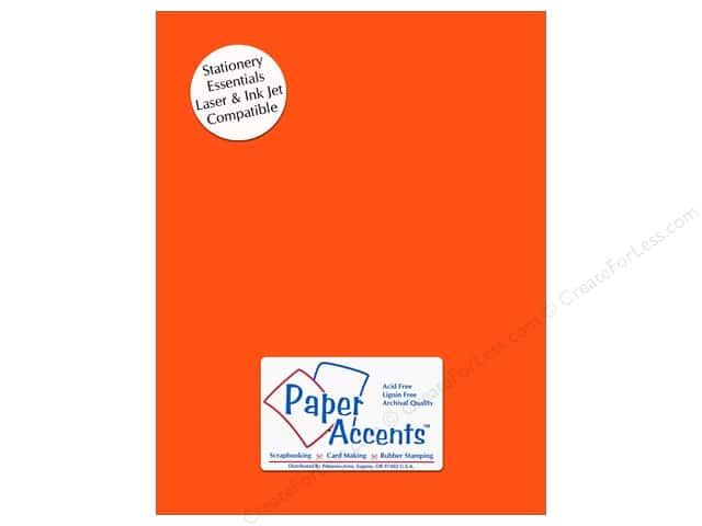 Paper Accents Stationery 8 1/2 x 11 in. Bright Orange 25 pc.