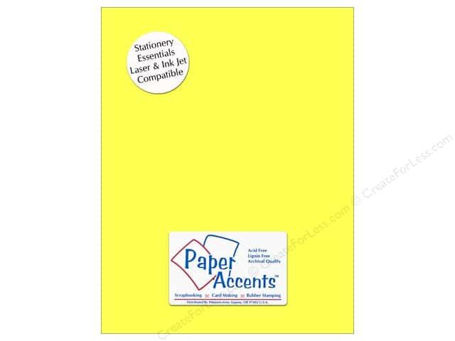 Paper Accents Stationery 8 1/2 x 11 in. Bright Yellow 25 pc.