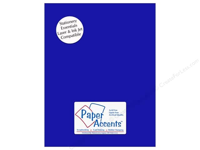 Paper Accents Stationery 8 1/2 x 11 in. Royal Blue 25 pc.