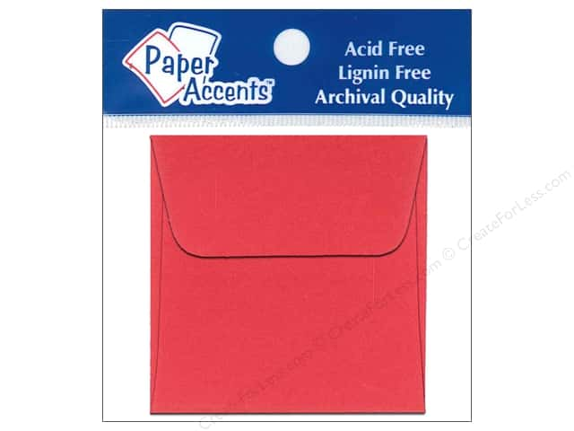 2 1/4 x 2 1/4 in. Envelopes by Paper Accents 15 pc. Red