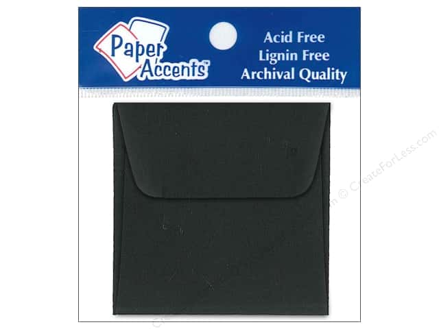 2 1/4 x 2 1/4 in. Envelopes by Paper Accents 15 pc. Black